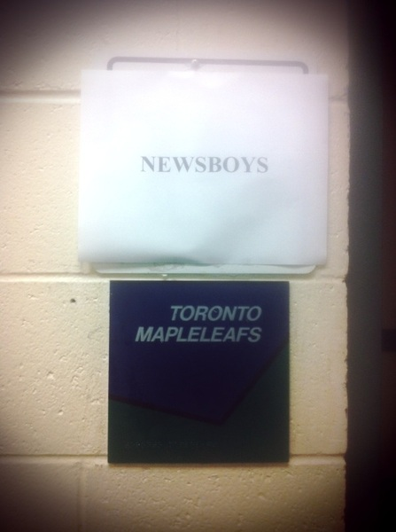 Since the Leafs don&#039;t usually need a dressing room in April.......