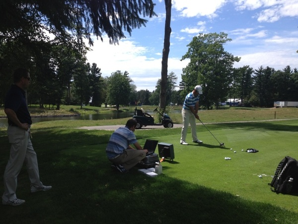 @Paul_Casey doing some ball testing with Stach and Nick from  @nikegolf  #20XI #jointherevolution
