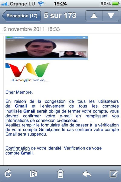 Attention ça sent le piratage gmail #Gmail #hack