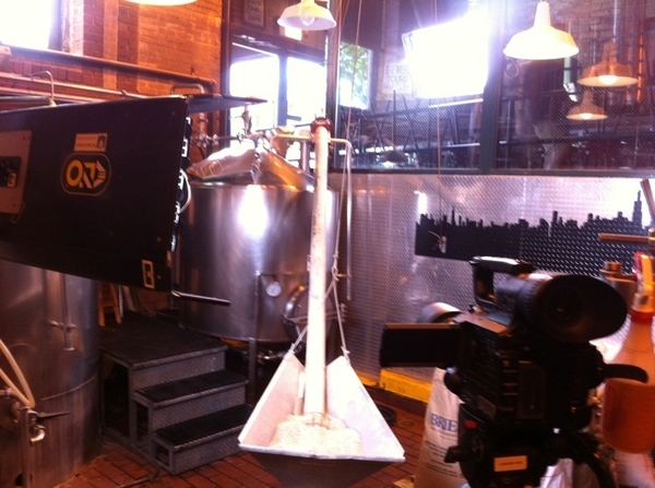 Getting ready to shoot &quot;beer making 101&quot; for MOPAAT w @jbrew312 at @GooseIsland! Tasting involved I hope :)