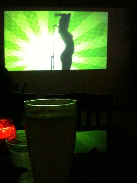 Drinking Hoegaarden and a naked peepshow