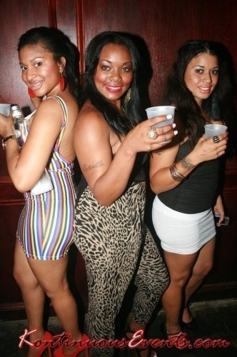 PRETTY GIRLS SHOWED LOVE @purplePLANETent D. BILL$ MIXTAPE RELEASE PARTY W/ DJDRAMA at  @B_E_Downtown