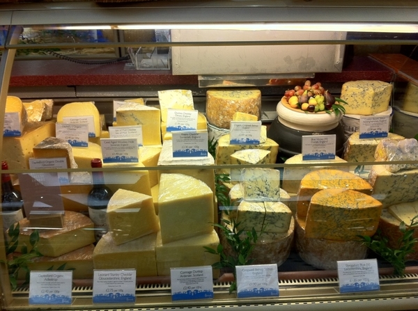 Harrod's food halls r still magnificent & mind boggling n diversity. English cheese sect alone is thrilling