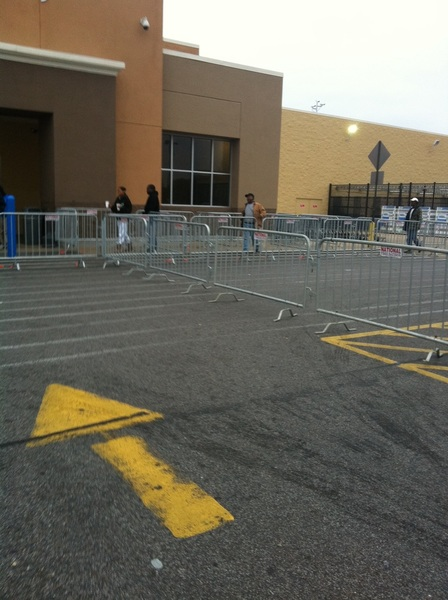 Black Friday setup at #walmart hours ago