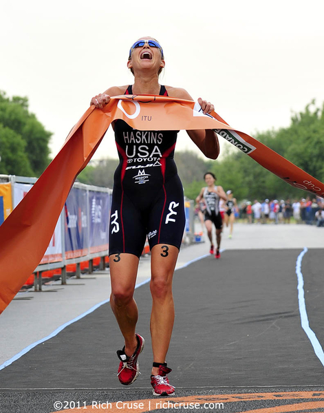 Congrats to @sarahhaskinstri Sarah Haskins for being named @usatriathlon Athlete of the Month for May!